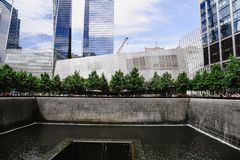 Monumento nacional del 11 de septiembre en New York City Fotografía de archivo