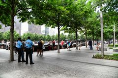 Monumento nacional del 11 de septiembre en New York City Fotos de archivo libres de regalías