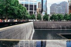 Monumento nacional del 11 de septiembre en New York City Imagen de archivo