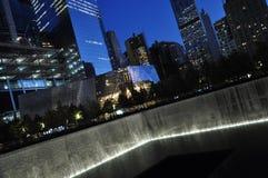 Monumento nacional del 11 de septiembre en Nueva York Imagen de archivo