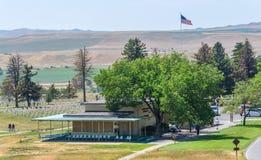 Monumento nacional do campo de batalha do Little Bighorn, MONTANA, EUA - 18 de julho de 2017: Custer Battlefield Museum Custer Na imagens de stock