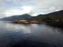 Monumento nacional dos Fjords enevoados, Alaska, EUA Imagens de Stock