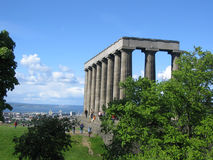 Monumento nacional, Edimburgo Imagem de Stock Royalty Free