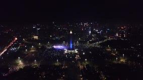 Monumento nacional en la celebración 2018 del Año Nuevo almacen de video