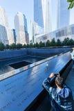 Monumento nacional en Lower Manhattan, New York City del 11 de septiembre Fotos de archivo libres de regalías