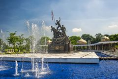 MONUMENTO NACIONAL - KUALA LUMPUR fotos de stock royalty free