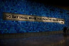 Monumento nacional 9 11 New York City los E.E.U.U. 25 05 2014 Fotografía de archivo