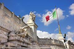 Monumento nacional a Victor Emmanuel II Fotos de archivo libres de regalías