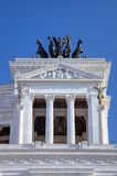 Monumento Nazionale的片段Vittorio Emanuele II.罗马(罗马),意大利 免版税库存照片