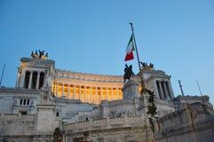 Monumento nazionale al tramonto di Victor Emmanuel II, Roma di Patria di della di Altare Fotografia Stock Libera da Diritti