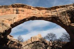 Monumento nazionale dei ponti naturali in primavera in anticipo Immagini Stock Libere da Diritti