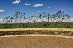 Monumento nazionale del Little Bighorn fotografie stock