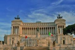 Monumento nazionale del vincitore Emmanuel II Fotografie Stock Libere da Diritti