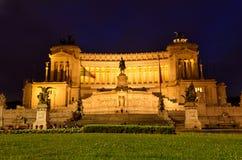 Monumento nazionale del vincitore Emmanuel II Fotografia Stock