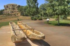 Monumento nazionale della colonna del ` s di Pompey nel Montana immagini stock