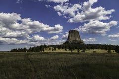 Monumento nazionale della torretta dei diavoli, Wyoming Fotografia Stock Libera da Diritti
