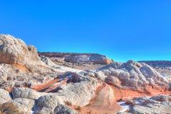 Monumento nazionale delle scogliere bianche del Tasca-vermiglio Fotografie Stock Libere da Diritti