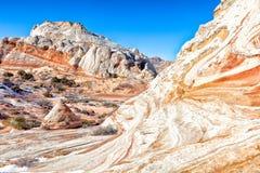 Monumento nazionale delle scogliere bianche del Tasca-vermiglio Fotografia Stock