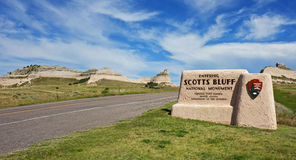 Monumento nazionale di bluff di Scotts, Nebraska Immagini Stock Libere da Diritti