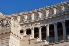 Monumento nazionale di Victor Emmanuel II Monumento Nazionale Vittorio Emanuele II anche conosciuto come l'altare della patria Al Fotografia Stock Libera da Diritti