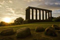 Monumento nazionale, Edinburgh Fotografia Stock