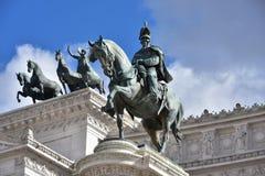 Monumento Nazionale en Vittorio Emanuele II, monument till Victor Emmanuel II, Altair av fäderneslandet Arkivbild