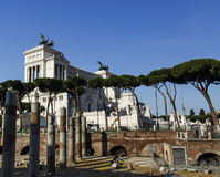 Monumento nazionale a Victor Emmanuel II Fotografia Stock Libera da Diritti