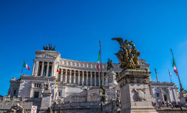 The Monumento Nazionale a Vittorio Emanuele II `National Monument to Victo royalty free stock images