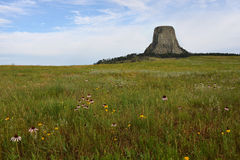 Monumento nazionale Wyoming della torre dei diavoli Immagine Stock