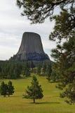 Monumento nazionale Wyoming della torre dei diavoli Immagini Stock