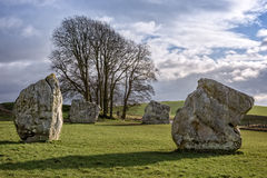 Monumento neolitico del henge di Avebury Fotografia Stock
