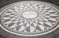 Monumento New York City de Strawberry Fields imagen de archivo