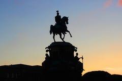 Monumento Nicolás I St Petersburg Rusia de la silueta Fotografía de archivo