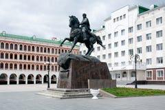 Monumento a Obolensky-Nogotkov no Yoshkar-Ola imagens de stock