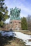 Monumento in onore del cinquantesimo anniversario delle brigate della costruzione dello studente Fotografie Stock
