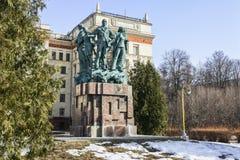 Monumento in onore del cinquantesimo anniversario delle brigate della costruzione dello studente Fotografia Stock Libera da Diritti