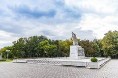 Monumento Ostasului Necunoscut en Timisoara Foto de archivo