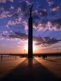Monumento. pôr-do-sol foto de stock royalty free
