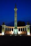 Monumento público a Jefferson Davis Imagen de archivo libre de regalías