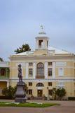 Monumento a Paolo I sul quadrato al palazzo di Pavlovsk Fotografia Stock
