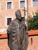 Monumento a papa Juan Pablo II imagen de archivo