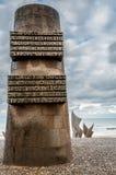 Monumento para el aterrizaje en la playa de Omaha Fotos de archivo libres de regalías