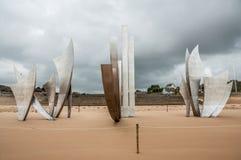 Monumento para el aterrizaje en la playa de Omaha Imagen de archivo libre de regalías