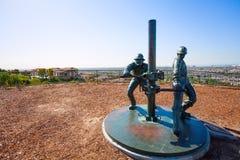 Monumento para engrasar a trabajadores cerca de Los Ángeles Fotografía de archivo