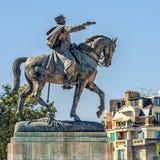Monumento para formar a Joffre en París Imágenes de archivo libres de regalías