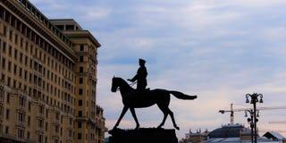 Monumento para formar a Zhukov fotos de archivo