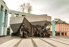 Monumento para lustrar a insurreição dos lutadores Fotografia de Stock Royalty Free