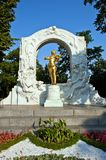 Monumento per Johann Strauss a Vienna, Austria Fotografia Stock Libera da Diritti