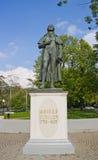Monumento per Schiller a Kaliningrad, Russia Immagine Stock Libera da Diritti