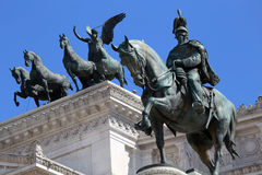 Monumento per Victor Emenuel II, a Roma, l'Italia Immagine Stock Libera da Diritti